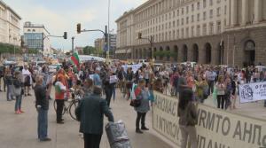 Студенти на протест срещу правителството в София