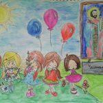 """27 малки художници се съревновават в третия етап на конкурса за детска рисунка """"Домашно ателие"""" (Снимки)"""