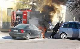 Автомобил се подпалил във Видин