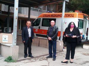 Видинските медици от първа линия борещи се с Covid-19 получиха дарение (Снимки)